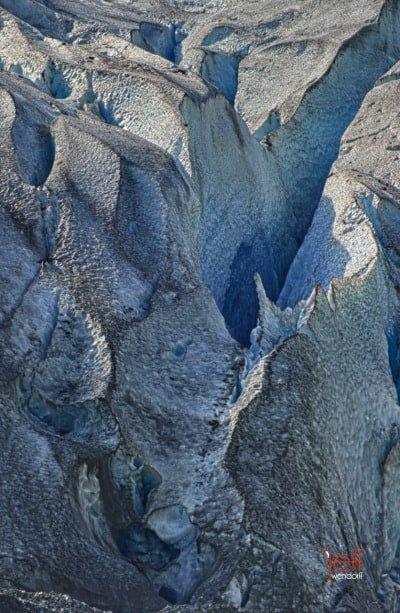 Reid Glacier Detail - Glacier Bay Alaska photographed by Jeff Wendorff