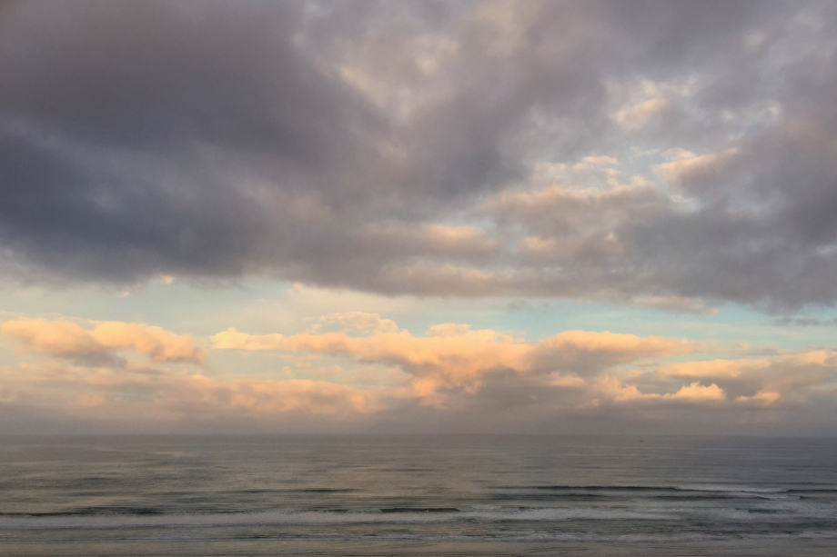 Original iPhone image photographed by Jeff Wendorff at Nye Beach on the Oregon Coast