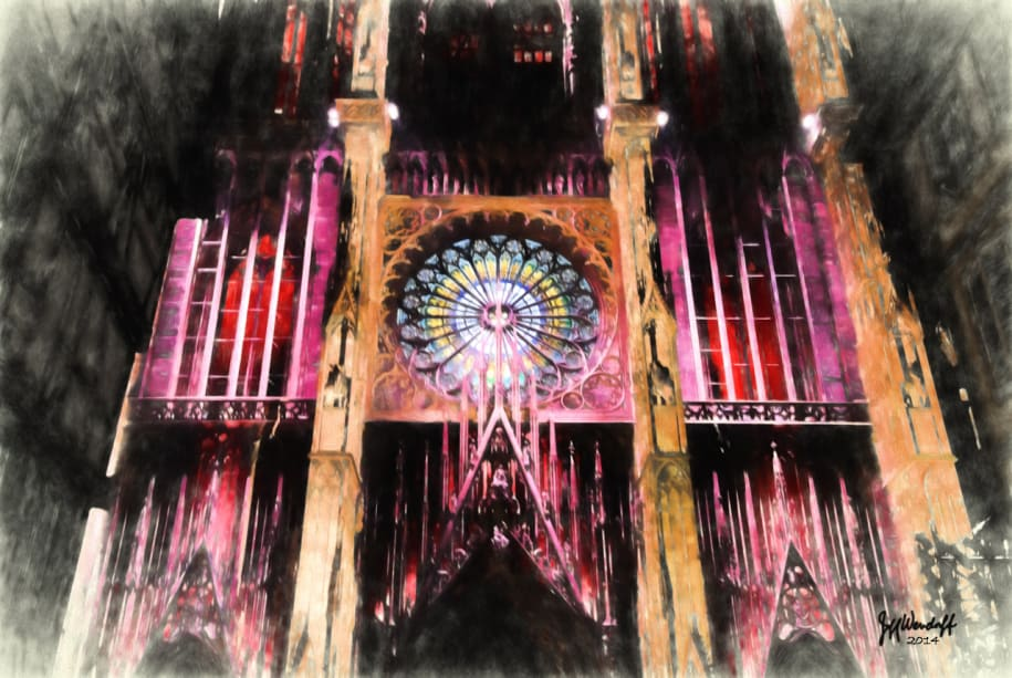 Strasbourg Cathedral painted with Topaz Impression - Photo Painting III preset by Jeff Wendorff