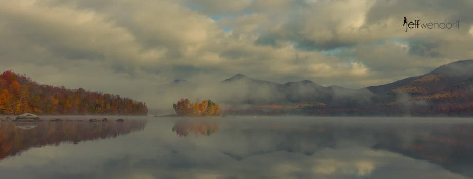 Fall morning Chiitendon Reservoir - Vermont photographed by Jeff Wendorff