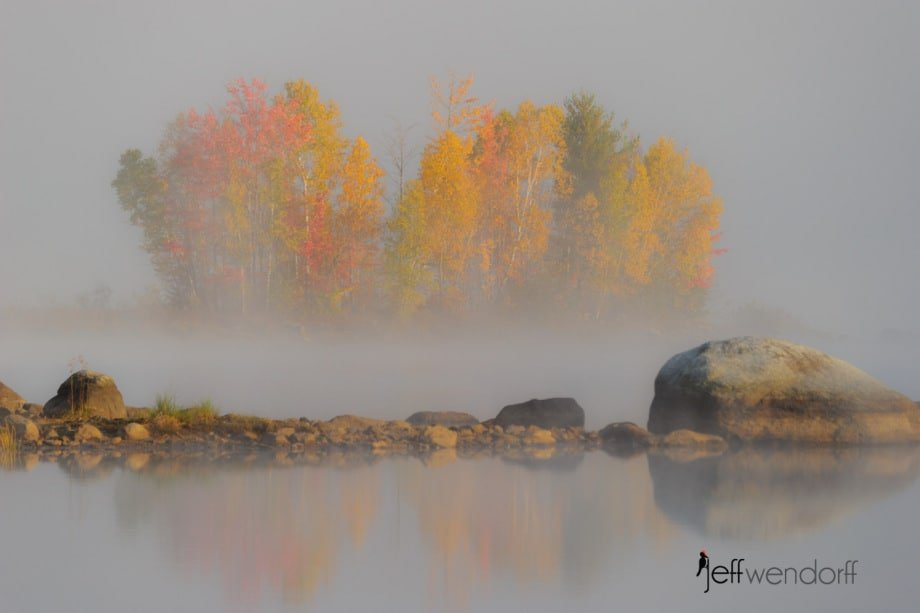 Chittendon Reservoir VT at sunrise photographed by Jeff Wendorff