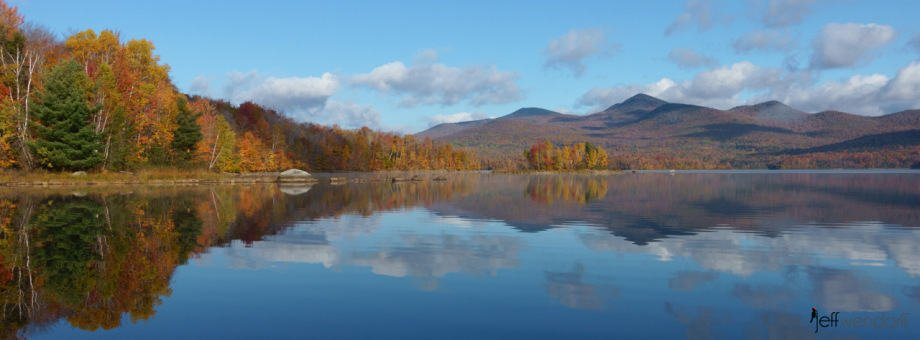 Chiitenedon Reservoir in the fall photographed by Jeff Wendorff