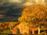 Stormy Weather Vermont Farm painted with Topaz Impression - Rembrandt Portrait I