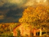Stormy Weather Vermont Farm painted with Topaz Impression - Turner Sunset II