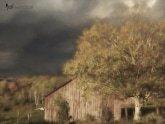 Stormy Weather Vermont Farm painted with Topaz Impression - Warm Haze II