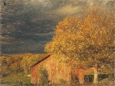 Stormy Weather Vermont Farm painted with Topaz Impression - Color Pencil III
