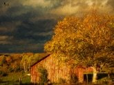 Stormy Weather Vermont Farm painted with Topaz Impression - Degas Dancers I