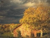 Stormy Weather Vermont Farm painted with Topaz Impression - Fading Away II