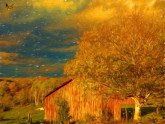 Stormy Weather Vermont Farm painted with Topaz Impression - Liquid Lines I