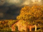 Stormy Weather Vermont Farm painted with Topaz Impression - Obscurity II