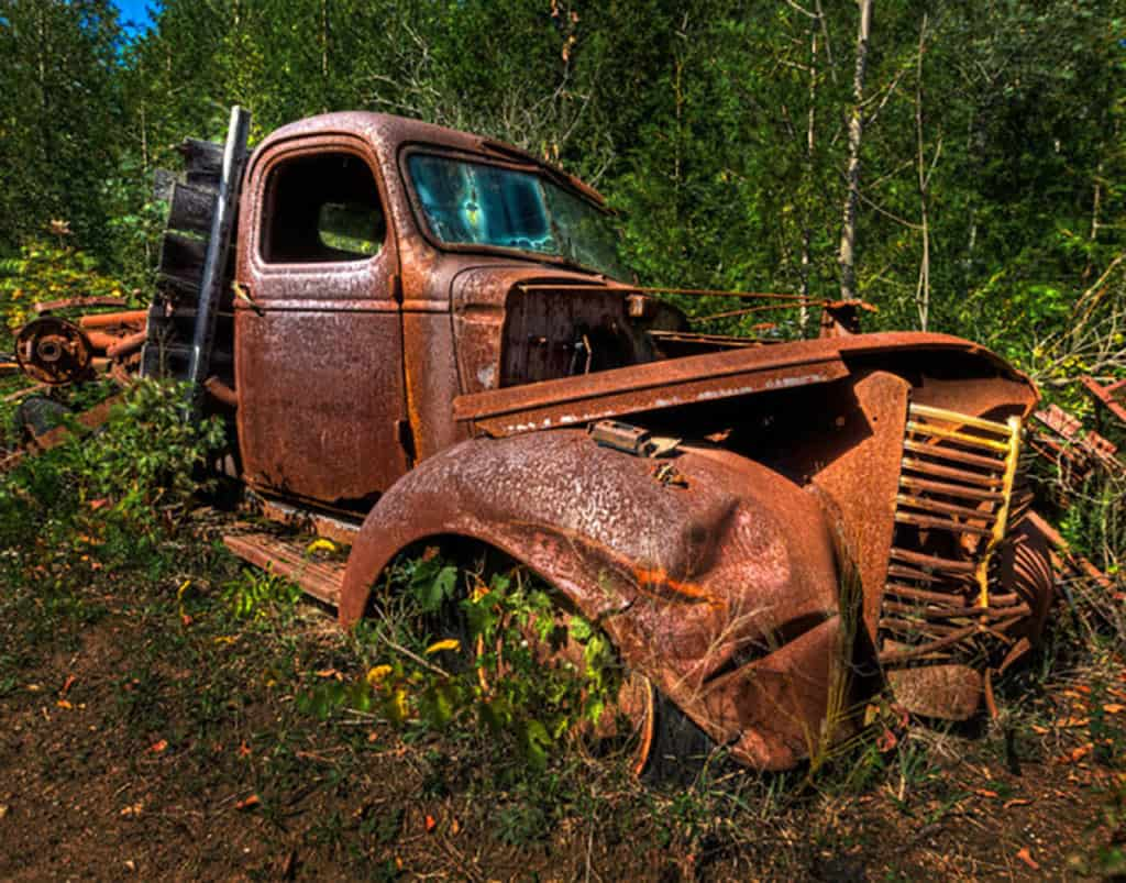 Rusty Gold - Abandoned truck photographed on Fall colors and more workshop
