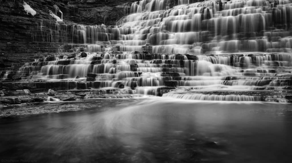 One of the hundreds of waterfalls we might photograph, Hamilton, Ontario. The waterfall capital of the world.