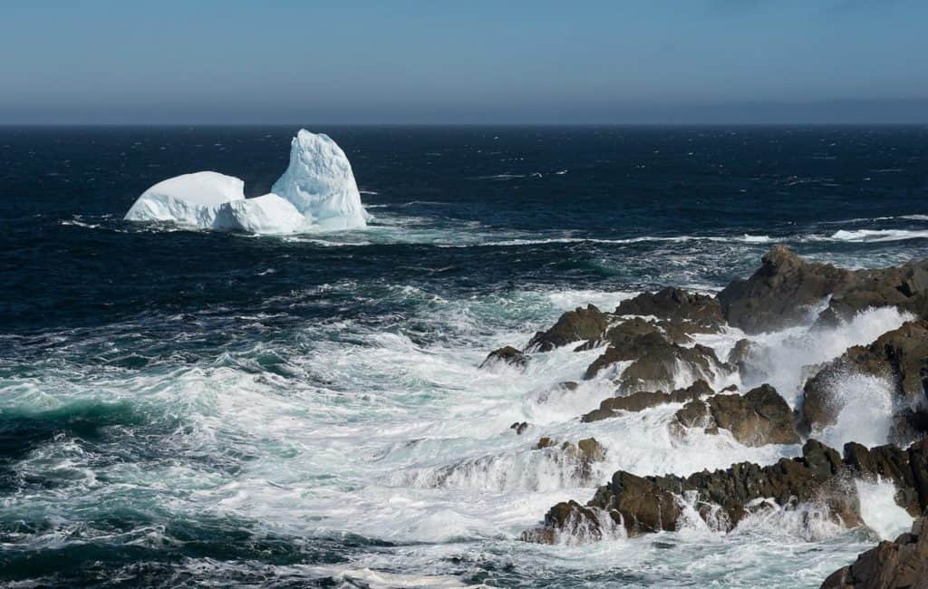 An iceberg gloating through Iceberg Alley in Newfoundland