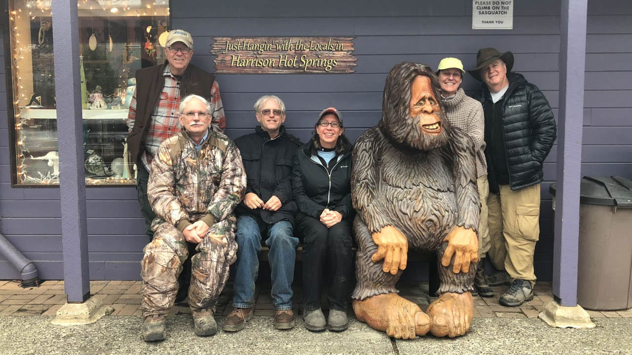 Clients with Big foot BC Birds Workshop