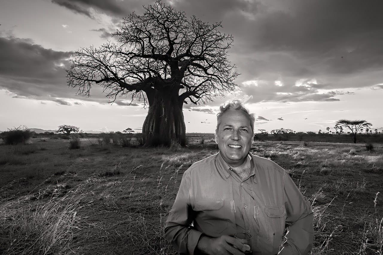 Jeff Under Baobab for Sundowners